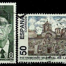 Sellos - ESPAÑA 1993- EDI 3275-76 (series:J. Guillen- Mº Poblet) usados - 117320575