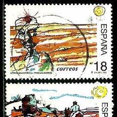 Sellos - ESPAÑA 1994- EDI 3303/04 (Serie-Literatura española) usados - 76542481