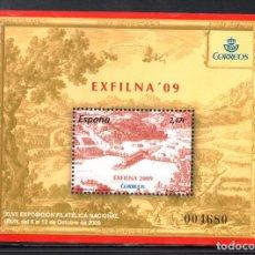 Sellos: ESPAÑA 4512** - AÑO 2009 - EXFILNA 2009, EXPOSICION FILATELICA NACIONAL, IRUN. Lote 164981624