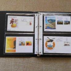 Sellos: SOBRES PRIMER DIA AÑO 2008 (COMPLETO). LUJO. LEER DESCRIPCION. ALBUM INCLUIDO. Lote 75498787