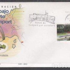 Sellos: 2003 SOBRE PRIMER DIA EDIFIL 3957 NUEVO. TUNEL DE SOMPORT. Lote 110341744
