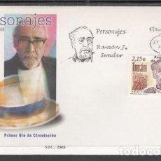 Sellos: 2003 SOBRE PRIMER DIA EDIFIL 3977 NUEVO. PERSONAJES RAMON J. SENDER. Lote 110342176
