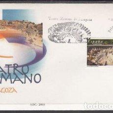 Sellos: 2003 SOBRE PRIMER DIA EDIFIL 3984 NUEVO. TATRO ROMANO ZARAGOZA. Lote 110342326