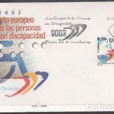 Sellos: 2003 SOBRE PRIMER DIA EDIFIL 3985 NUEVO. AÑO EUROPEO DISCAPACIDAD. Lote 110342360