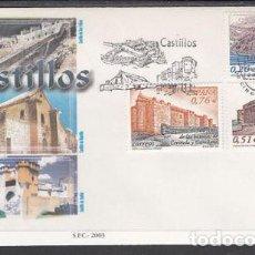 Sellos: 2003 SOBRE PRIMER DIA EDIFIL 3986/88 NUEVO. CASTILLOS. Lote 77596581