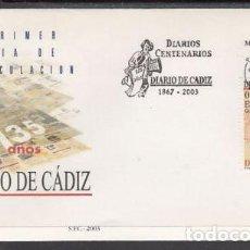 Sellos: 2003 SOBRE PRIMER DIA EDIFIL 3995 NUEVO. DIARIO DE CADIZ. Lote 77597101