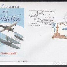 Sellos: 2003 SOBRE PRIMER DIA EDIFIL 4047 NUEVO. CENTENARIO DE LA AVIACION. Lote 110342658