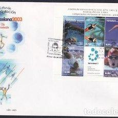 Sellos: 2003 SOBRE PRIMER DIA EDIFIL 3991 NUEVO. NATACION BARCELONA 03. Lote 110342799