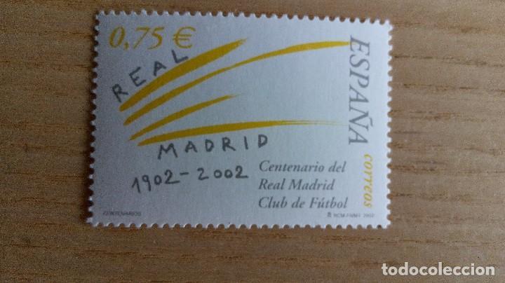 FÚTBOL SELLO REAL MADRID CENTENARIO AÑO 2002 NUEVO (Sellos - España - Juan Carlos I - Desde 2.000 - Nuevos)