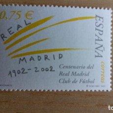 Sellos: FÚTBOL SELLO REAL MADRID CENTENARIO AÑO 2002 NUEVO. Lote 78426213