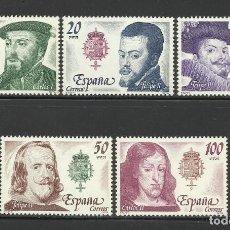 Sellos: 1979 EDIFIL 2552/56* NUEVOS CON CHARNELA. LUJO. CASA DE AUSTRIA. Lote 78435297