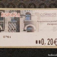 Francobolli: ATM NUEVO 2002 - ARQUITECTURA POSTAL ZARAGOZA. Lote 78676337