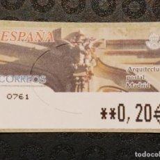 Francobolli: ATM NUEVO 2002 - ARQUITECTURA POSTAL MADRID. Lote 78676641