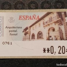 Francobolli: ATM NUEVO 2002 - ARQUITECTURA POSTAL FERROL. Lote 78676781