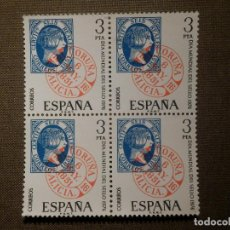 Sellos: SELLO - ESPAÑA - CORREOS - EDIFIL 2318 - DIA MUNDIAL DEL SELLO - BLOQUE DE 4 - 3 PTAS - 1976. Lote 79972517