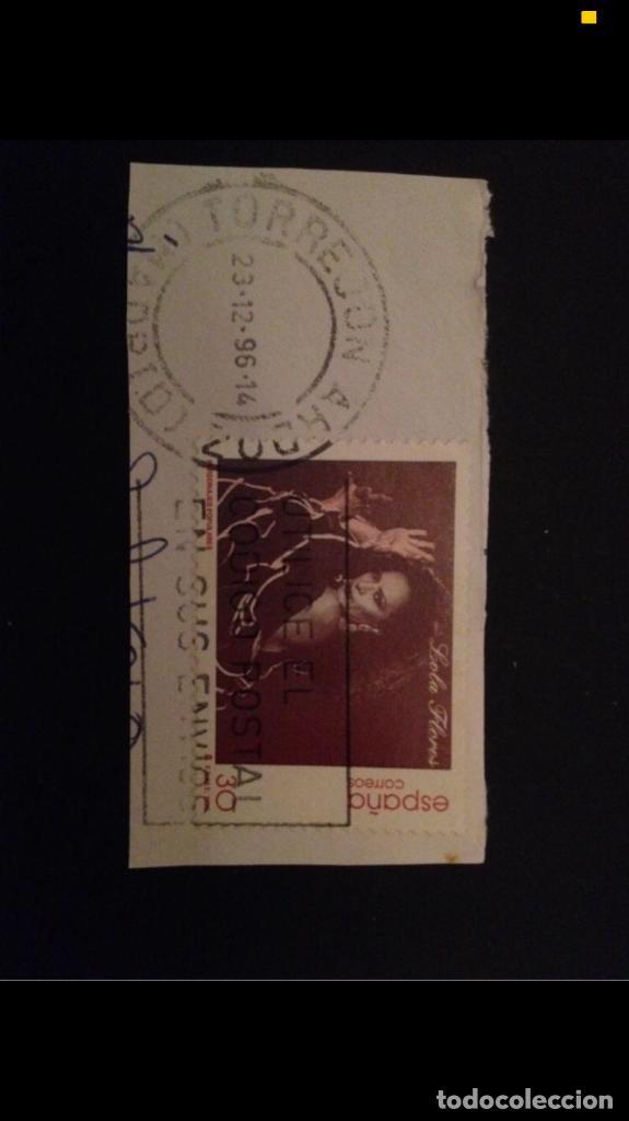 SELLO LOLA FLORES (Sellos - España - Juan Carlos I - Desde 1.986 a 1.999 - Usados)