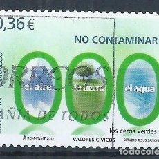 Sellos: R15/ ESPAÑA USADOS 2012, EDF. 4696, VALORES CIVICOS. Lote 80807943