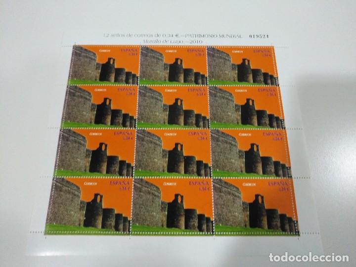MINIPLIEGO Nº 89 - AÑO 2010 - MURALLA DE LUGO - MUY DIFÍCIL DE ENCONTRAR (Sellos - España - Juan Carlos I - Desde 2.000 - Nuevos)