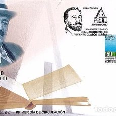 Sellos: SPAIN 2017 - 1150 ANNIVERSARY OF THE BIRTH OF BLASCO IBAÑEZ FDC - FIRST DAY COVER. Lote 111513200