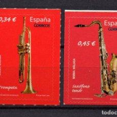 Sellos: ESPAÑA 4549/50** - AÑO 2010 - INSTRUMENTOS MUSICALES. Lote 112845075