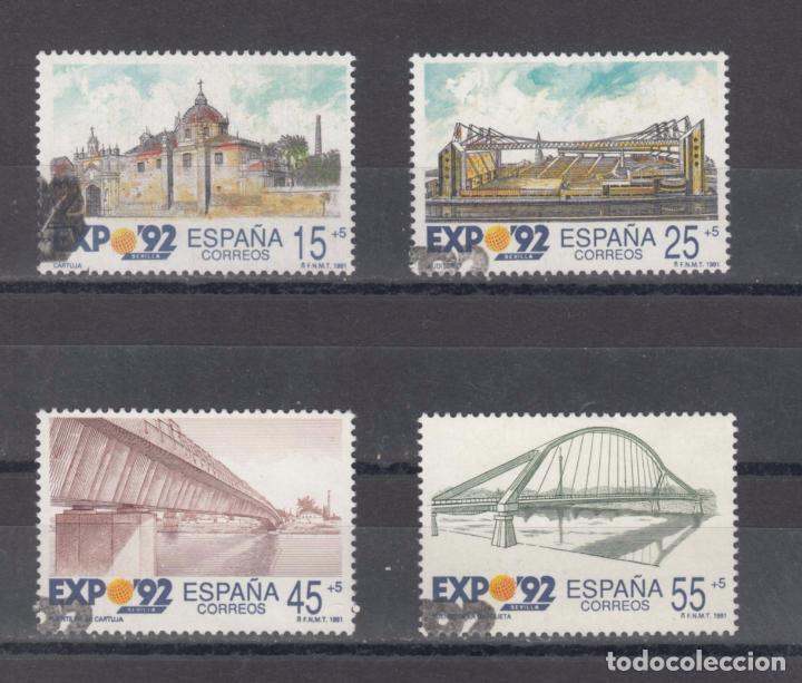 ESPAÑA 3100/3 LOTE DE 25 SERIES USADA, EXPO'92, EXPOSICION UNIVERSAL SEVILLA 1992 (Sellos - España - Juan Carlos I - Desde 1.986 a 1.999 - Usados)