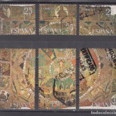 Sellos: ESPAÑA 2591A/F LOTE DE 25 SERIES USADA, TAPIZ DE LA CREACION, . Lote 81829004