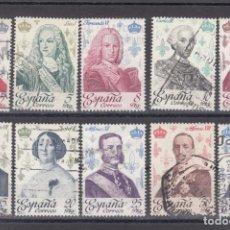 Sellos: ESPAÑA 2496/505 LOTE DE 25 SERIES USADA, REYES DE ESPAÑA, CASA DE BORBON, . Lote 81831660