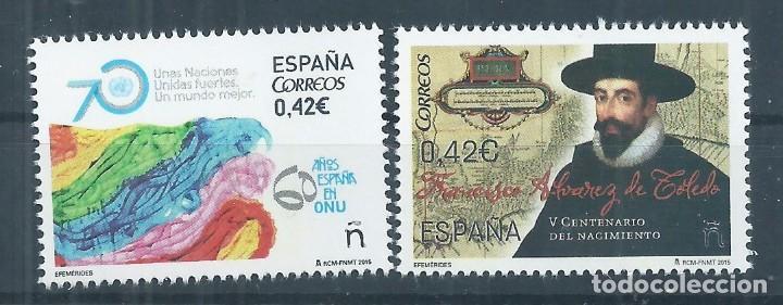 R13.G8/ ESPAÑA NUEVOS /**/ MNH, 2015, EDF. 5002/03, EFEMERIDES (Sellos - España - Juan Carlos I - Desde 2.000 - Nuevos)