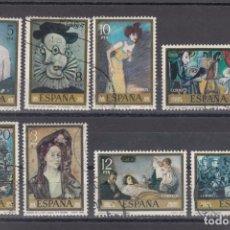 Sellos: ESPAÑA 2481/8 LOTE DE 25 SERIES USADA, PINTURA, PABLO RUIZ PICASSO. Lote 82227952
