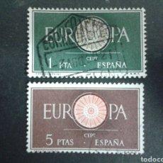 Sellos: SELLOS DE ESPAÑA. EDIFIL 1294/95. SERIE COMPLETA USADA. 1960. EUROPA CEPT.. Lote 82680396