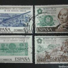 Sellos: SELLOS DE ESPAÑA. EDIFIL 2322/25. SERIE COMPLETA USADA. 1976. BICENTENARIO USA.. Lote 82680460
