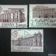Sellos: SELLOS DE ESPAÑA. EDIFIL 2326/28. SERIE COMPLETA USADA. 1976. ADUANAS. Lote 82680494
