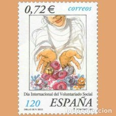 Selos: NUEVO - EDIFIL 3842 SIN FIJASELLOS - SPAIN 2001 MNH - VOLUNTARIADO SOCIAL / M. Lote 214069085