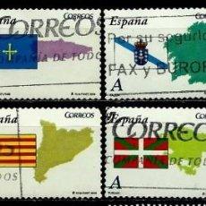Sellos: ESPAÑA 2009- EDI 4446/53 (SERIE-AUTONOMIAS) USADOS. Lote 100756487