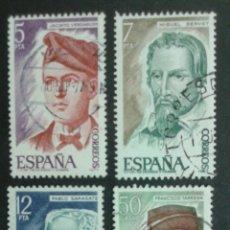 Sellos: SELLOS DE ESPAÑA. EDIFIL 2398/401. SERIE COMPLETA USADA 1977. PERSONAJES. Lote 83448630