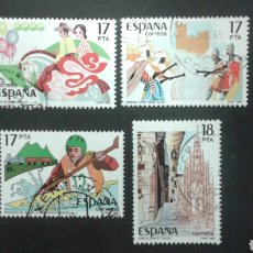 Sellos: SELLOS DE ESPAÑA. EDIFIL 2783/86. SERIE COMPLETA USADA 1985. GRANDES FIESTAS POPULARES. Lote 83451114
