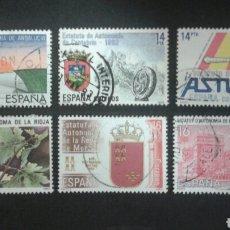Sellos: SELLOS DE ESPAÑA. EDIFIL 2686/91. SERIE COMPLETA USADA 1983. ESTATUTOS DE AUTONOMÍA.. Lote 83451236