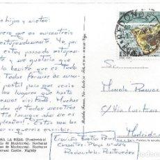 Sellos: POSTAL MATASELLO REDONDELA PONTEVEDRA A MADRID MATASELLOS . Lote 83708392