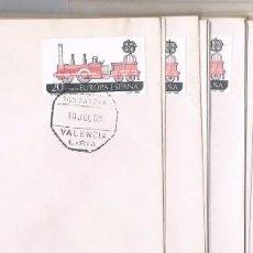 Sellos: ESPAÑA. CONJUNTOP DE 17 SOBRES CON SELLOS Y MATASELLOS FERROCARRIL. Lote 83894356