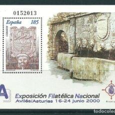 Sellos: ESPAÑA EXFILNA´2000 HOJA BLOQUE EDIFIL NUM. 3716 ** NUEVA SIN FIJASELLOS. Lote 210277933