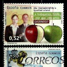 Sellos: ESPAÑA 2013- EDI 4776/77 (VALORES CIVICOS) USADOS. Lote 89454546