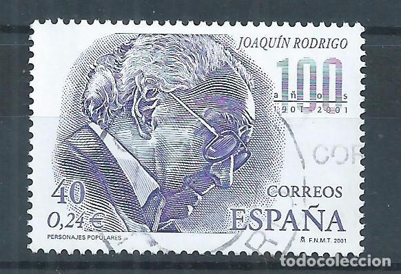 R16/ ESPAÑA USADOS 2001, EDF. 3783, PERSONAJES POPULARES (Sellos - España - Juan Carlos I - Desde 2.000 - Usados)
