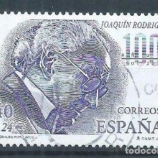 Sellos: R16/ ESPAÑA USADOS 2001, EDF. 3783, PERSONAJES POPULARES. Lote 84827388