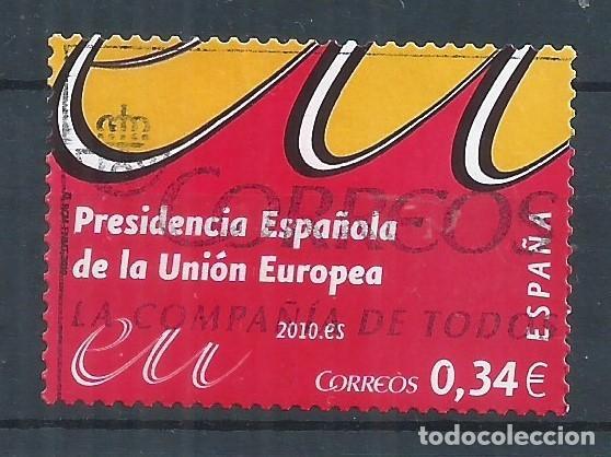 R16/ ESPAÑA USADOS 2010, EDF. 4547, ... UNION EUROPEA ... (Sellos - España - Juan Carlos I - Desde 2.000 - Usados)