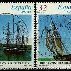 Sellos: ESPAÑA 1997- EDI 3477/78SH (SERIE-BARCOS) USADOS. Lote 187115938