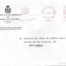 Sellos: CARTA FRANQUEO MECANICO AYUNTAMIENTO ARANDA DE DUERO BURGOS SN MATASELLO. Lote 85213320