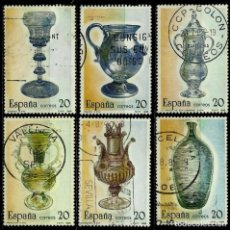Sellos: ESPAÑA 1988- EDI 2941/46 (SERIE: ARTESANIA DEL VIDRIO) USADOS. Lote 86877318