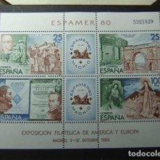 Sellos: ESPAÑA 1980 EXPO FILATELICA AMERICA Y EUROPA ESPAMER 80 EDIFIL 2583 ** MNH YVERT 27 MNH. Lote 85791592