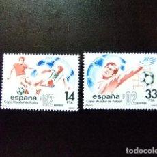 Sellos: ESPAÑA SPAIN ESPAGNE 1982 COPA MUNDIAL DE FUTBOL EDIFIL 2661 / 62 ** YVERT 2288 / 89 ** MNH. Lote 85960440