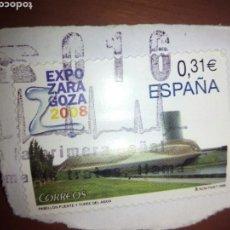Sellos: SELLO USADO EXPO ZARAGOZA 2008. Lote 86668171